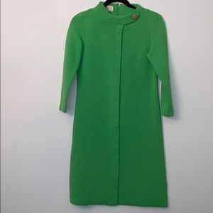 R & K Knits Mini Dress Size Small Green Mod